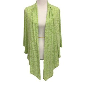3/$40 Hearts of Palm Green Ivy Floral Cascade Cardigan Sweater